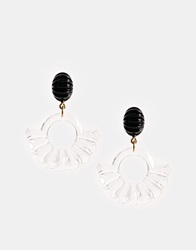 Gogo Philip Acrylic Fan Drop Earrings Clearblack
