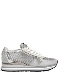 Crime 30Mm Mesh And Leather Running Sneakers