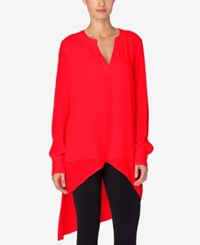Catherine Malandrino High Low Tunic Nolita Red