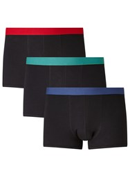 John Lewis Colour Waistband Trunks Pack Of 3 Red Turquoise Navy