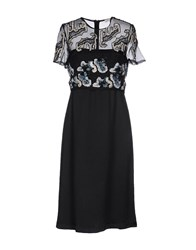 Michael Van Der Ham Knee Length Dresses Black