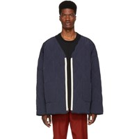 Wonders Navy Reversible Oversized Down Liner Jacket