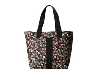 Le Sport Sac Everyday Tote Flower Burst Tote Handbags White