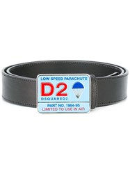 Dsquared2 Contrast Parachute Buckle Belt Black