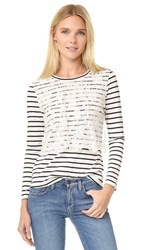 Leur Logette Front Lace Long Sleeve Top Stripe