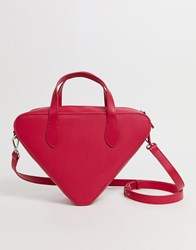 French Connection Fifi Triangle Handbag Pink