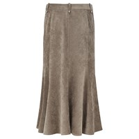 Viyella Fit And Flare Corduroy Skirt Khaki