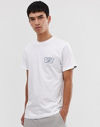 Vans T Shirt With Back Print Logo In White