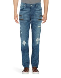 Hudson Jeans Distressed Zip Accented