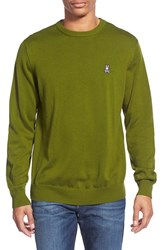 Men's Psycho Bunny Pima Cotton Crewneck Sweater Moss