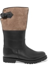 Ludwig Reiter Maronibraterin Leather And Suede Knee Boots Black