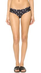 Wildfox Couture Moon And Star Zipper Bikini Bottoms Clean Black