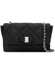 Salvatore Ferragamo Quilted Shoulder Bag Black