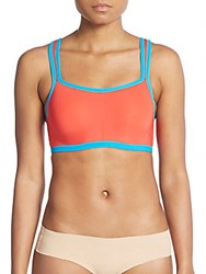 Josie Natori Yogi Underwire Sports Bra Cherry Blue
