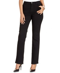 Style And Co. Tummy Control Slim Straight Leg Jeans Noir Wash Only At Macy's