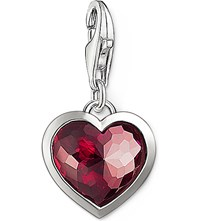 Thomas Sabo Charm Club Silver And Corundum Heart Charm