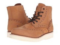 Frye Arkansas Wedge Wingtip Nutmeg Soft Nubuck Men's Lace Up Casual Shoes Brown
