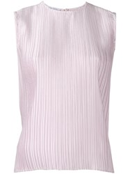 Christian Wijnants Sleeveless Pleated Top Women Polyester 36 Pink Purple