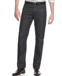 Alfani Black Jeans Deker Straight Fit Coated Jeans