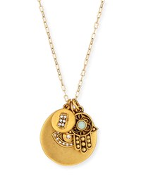 22K Gold Plated Talisman Pendant Necklace 36' Elephant Sequin
