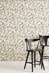 Dwellstudio Cranes Wallpaper Sand