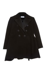 Dice Kayek Double Breasted Flare Coat Black