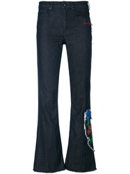 Sonia Rykiel Anemone Detail Flared Trousers Blue