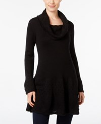 Styleandco. Style Co. Cowl Neck Tunic Sweater Only At Macy's Deep Black