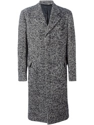 Dolce And Gabbana Vintage Tweed Long Coat Black