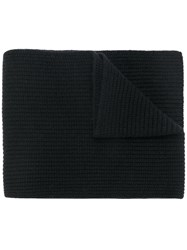 N.Peal Chunky Ribbed Scarf Cashmere Black