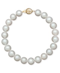 Belle De Mer Aa Cultured Freshwater Pearl Strand Bracelet 7 1 2 8 1 2Mm In 14K Gold