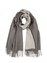 Johnstons Of Elgin Cashmere Reversible Stole Grey