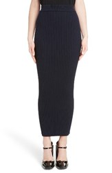 Kenzo Women's Body Con Midi Skirt Navy Blue