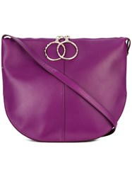 Nina Ricci Saddle Shoulder Bag Women Leather One Size Pink Purple