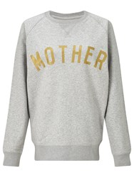Selfish Mother Crew Neck Sweatshirt Grey Gold