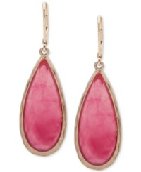 Lonna And Lilly Gold Tone Colored Stone Drop Earrings Fuchsia