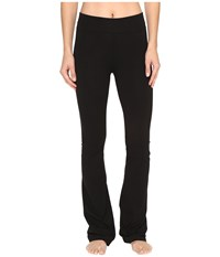 Hard Tail Rolldown Bootleg Flare Pants Black Women's Casual Pants