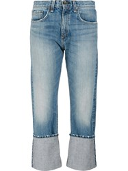 Rag And Bone Jean 'Marilyn Cropped' Jeans Blue