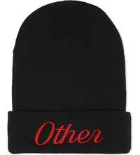 Nicopanda Embroidered Beanie Black