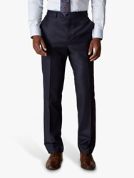 Jaeger Wool Flannel Regular Fit Suit Trousers Navy