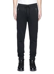 3.1 Phillip Lim Quilted Trim Cotton Jogging Pants Black