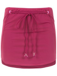 Amir Slama Lace Up Skirt Pink