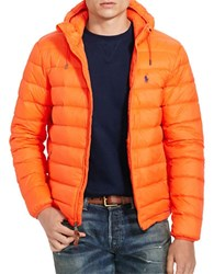 Polo Ralph Lauren Packable Long Sleeve Down Jacket Active Orange