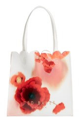 Ted Baker London Playful Poppy Small Icon Tote Red Mid Red
