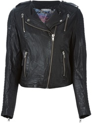 Lily And Lionel Lily And Lionel Quilted Sleeves Biker Jacket Black