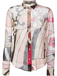 Red Valentino Printed Sheer Shirt Multicolour
