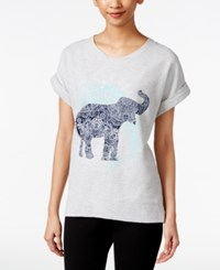 Styleandco. Style And Co. Elephant Graphic Sweatshirt Only At Macy's Grey Combo