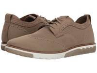 Hush Puppies Expert Wt Oxford Taupe Knit Nubuck Lace Up Casual Shoes