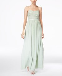 Adrianna Papell Beaded Chiffon Gown Mint