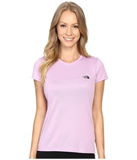 The North Face Short Sleeve Reaxion Amp Tee Lupine Asphalt Grey Women's T Shirt Pink